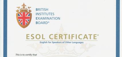 BIEB British Institutes esol exam